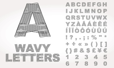 Latin Alphabet with wavy effect
