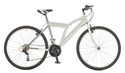 mountain bike isolated on white background, lateral view