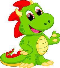 Illustration of dragon cartoon