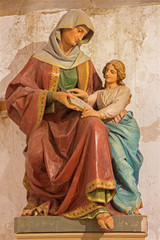 Bratislava - Carved statue of st. Ann in st. Martins cathedral