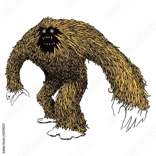 Yeti Snowman Bigfoot Monster