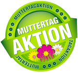 "Button Banner ""Muttertagaktion"" Blumen grün"
