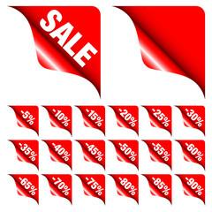 "Corners Set ""Sale"" Minus Red"
