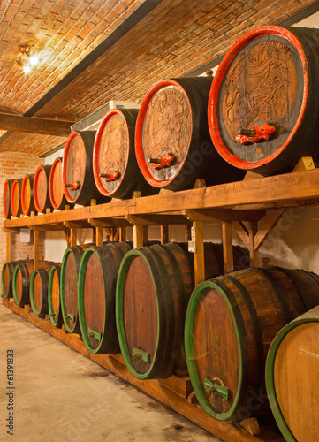 Interior of wine cellar of great Slovak producer.