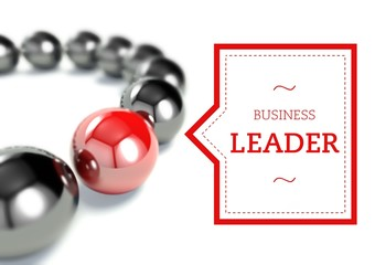 Business leader individuality concept