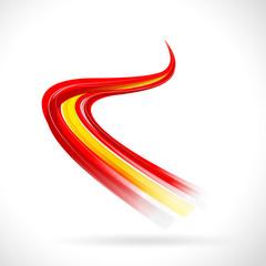 Españoles abstracto bandera