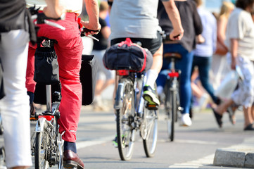Crowd of bikes