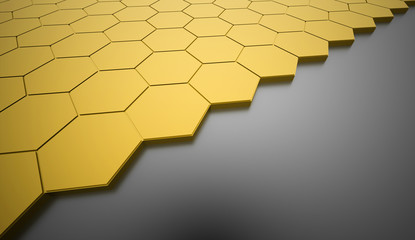 Yellow hexagonal background