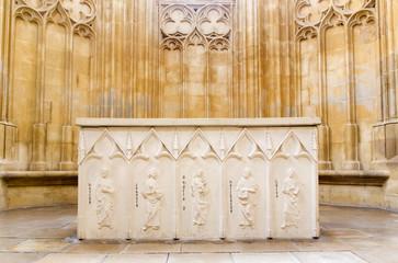 Bratislava - Altar from gothic St. John the Evangelist chapel