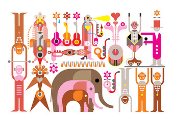 Circus - vector illustration