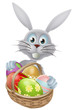 Eggs basket Easter bunny rabbit