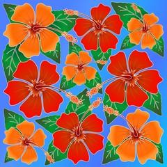 Hibiscus Batik Pattern