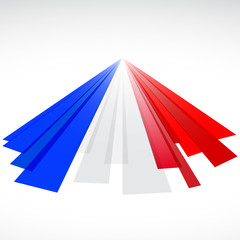 Abstract English and French flag