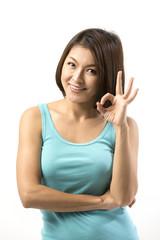 Portrait of happy Asian Woman.