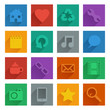 square media icons set 1