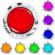 Set of big multicolored plastic buttons