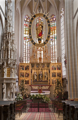 Kosice - Main carved altar of Saint Elizabeth gothic cathedral