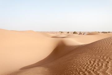 Tents among sand dunes, Draa valley (Morocco)