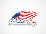beautiful presidents day design on white color background.