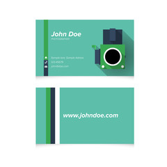 Modern Simple Light Business Card Template with Flat Old Analog