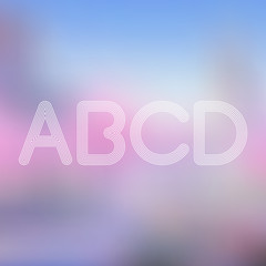 A B C D Light Lines Alphabet with Blurred Out fo Focus  Backgrou