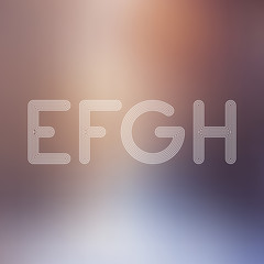 E F G H Light Lines Alphabet with Blurred Out fo Focus  Backgrou