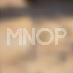 M N O P Light Lines Alphabet with Blurred Out fo Focus  Backgrou