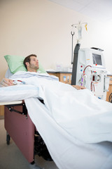 Male Patient Receiving Renal Dialysis