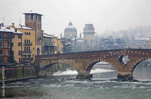 Verona - Ponte Pietra and Chiesa di San Giorgio