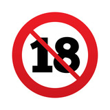 No 18 years old sign. Adults content.
