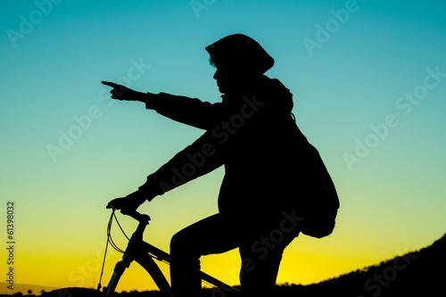 Fotobehang Wielersport bisikletçi & rehberlik