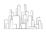 City,  Buildings silhouettes vector  illustration icon