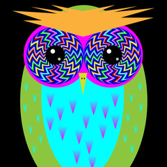Psychedelic Owl 2