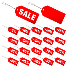 "Hangtags Set ""Sale"" Minus Red"