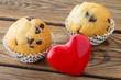 Herz und Muffins