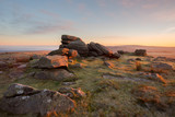 Sunrise Rowtor Dartmoor Devon Uk