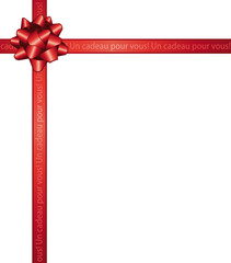 Noued rouge. Un cadeau pour vous.