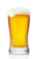 Frosty pint glass of beer
