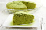 Chiffon cake of green tea