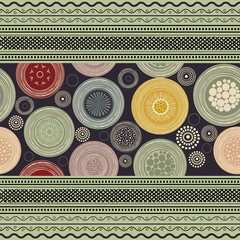 Ornamental colorful abstract pattern
