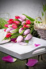 Frühstückstisch am Valentinstag, Muttertag, Geburtstag