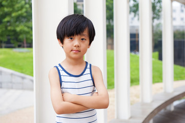 Confident Chinese boy
