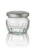 freigestelltes Marmeladenglas mit Facetten