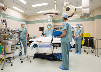 Sugery Preparation in Operating Theater