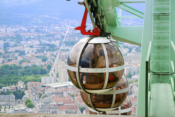 Overhead cable cars of Grenoble.