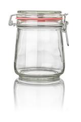 freigestelltes konisches Einmachglas mit Drahtbügelverschluss