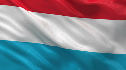 Flag of Luxembourg waving in the wind - seamless loop