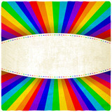 rainbow old background - vector illustration