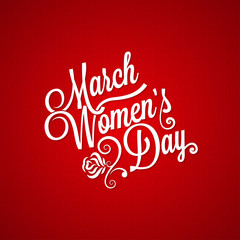 8 march women day vintage lettering background