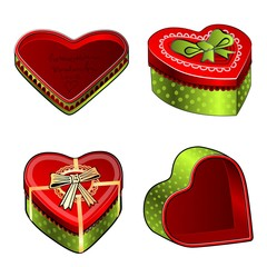 gift packaging to ring in the shape of a heart